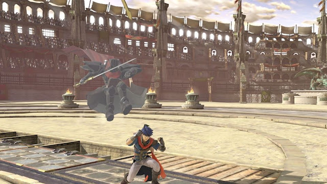 Black Knight Assist Trophy falling jumping Super Smash Bros. Ultimate