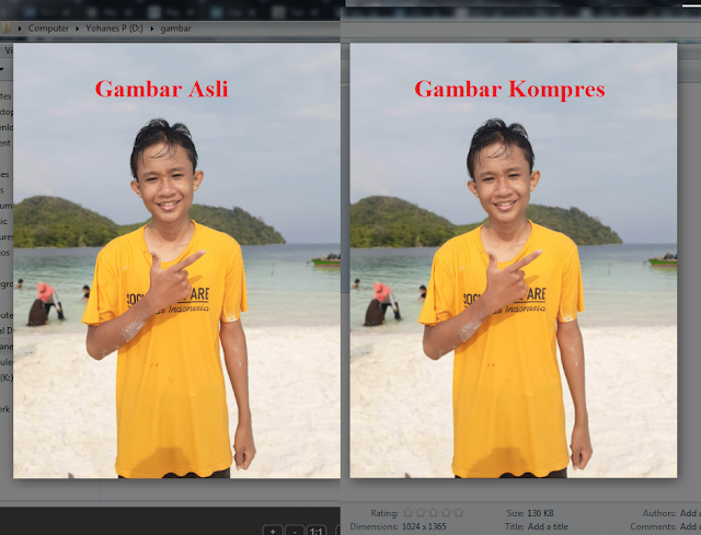 hasil kompres gambar dengan fileminimizer pictures