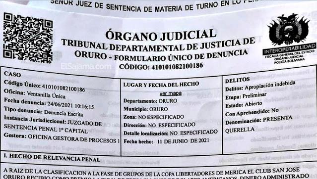 El documento que presentó San José para las pignoraciones