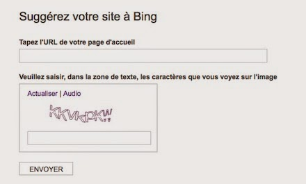 Bing Webmaster Toolbox Submit Url