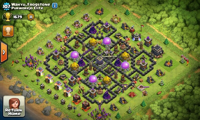 Clash Of clans: [Update] Susunan Formasi Base Town Hall 8