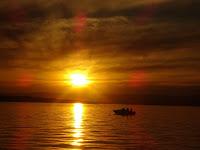 Sunset off Murrays Beach (Lake Macquarie, NSW, Australia)