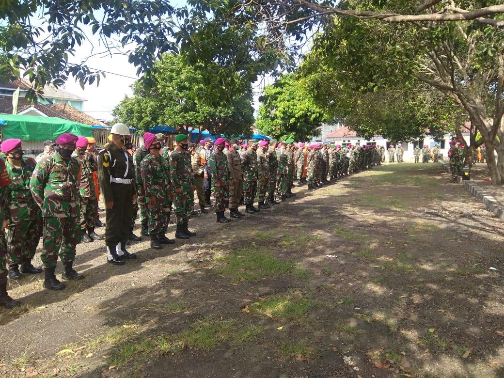 Hadapi situasi Pandemi Covid-19 Kodim 0410/KBL tak kenal lelah  bersama Gugus tugas percepatan Penanganan Covid-19 Kota Bandar Lampung untuk terus melakukan Patroli penegakan disiplin