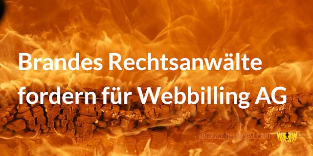 Titel:   Brandes Rechtsanwälte fordern für Webbilling AG