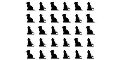 Q 8. These black cats and dogs are crossing your path both ways! How many cats are there?