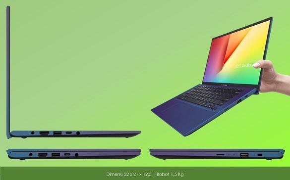 Ukuran Asus Ultrabook AMD Ryzen 14' 32 x 21 x 19