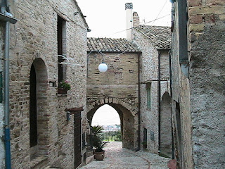 One of the ancient medieval gates of Ginoble's home village of Montepagano, in the hills above Roseta degli Abruzzi