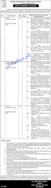 ghazi-university-dera-ghazi-khan-jobs-2021-download-application-form
