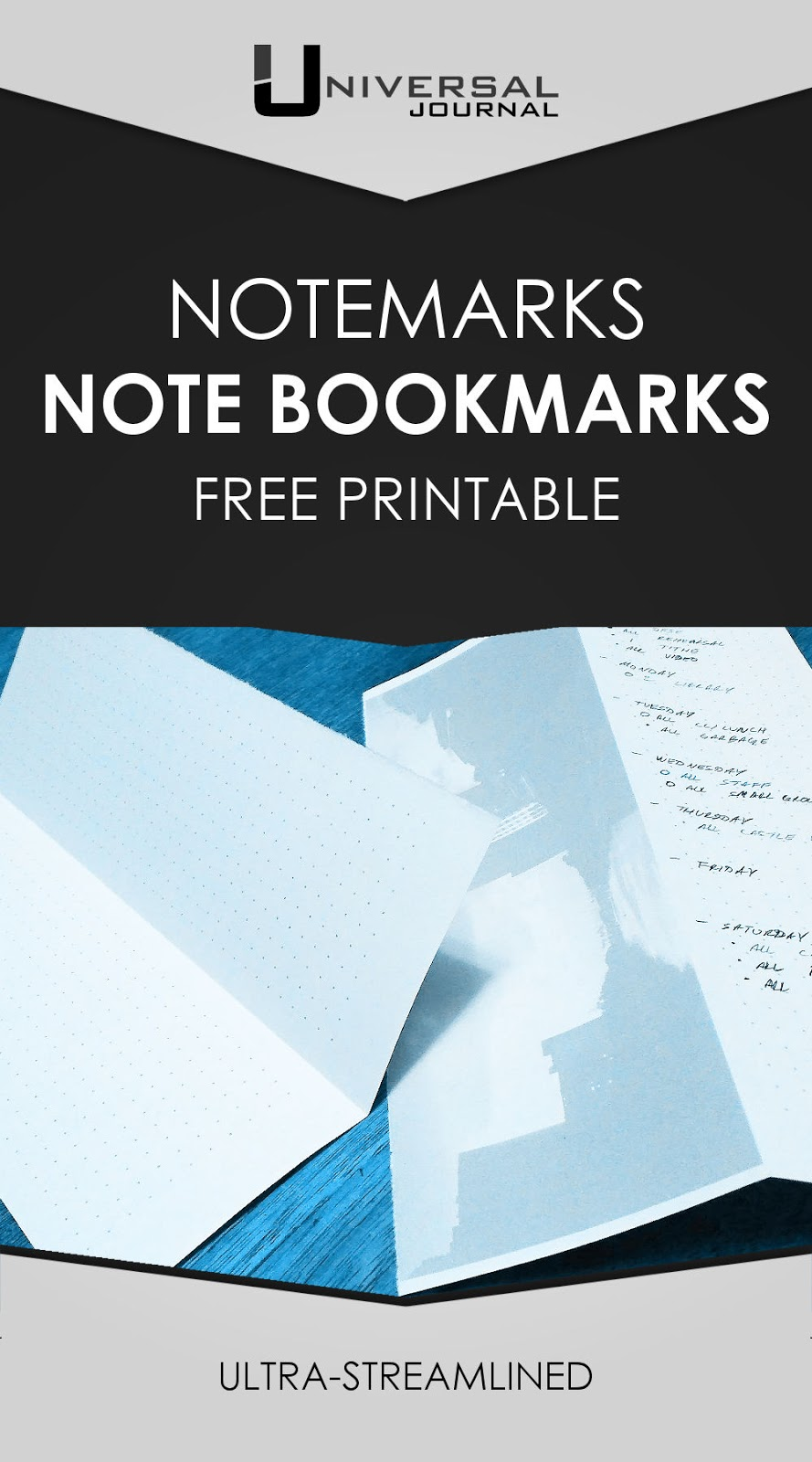 bullet journal notemarks note bookmarks free printable