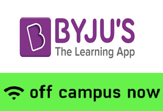 BYJU'S Off Campus Drive 2019