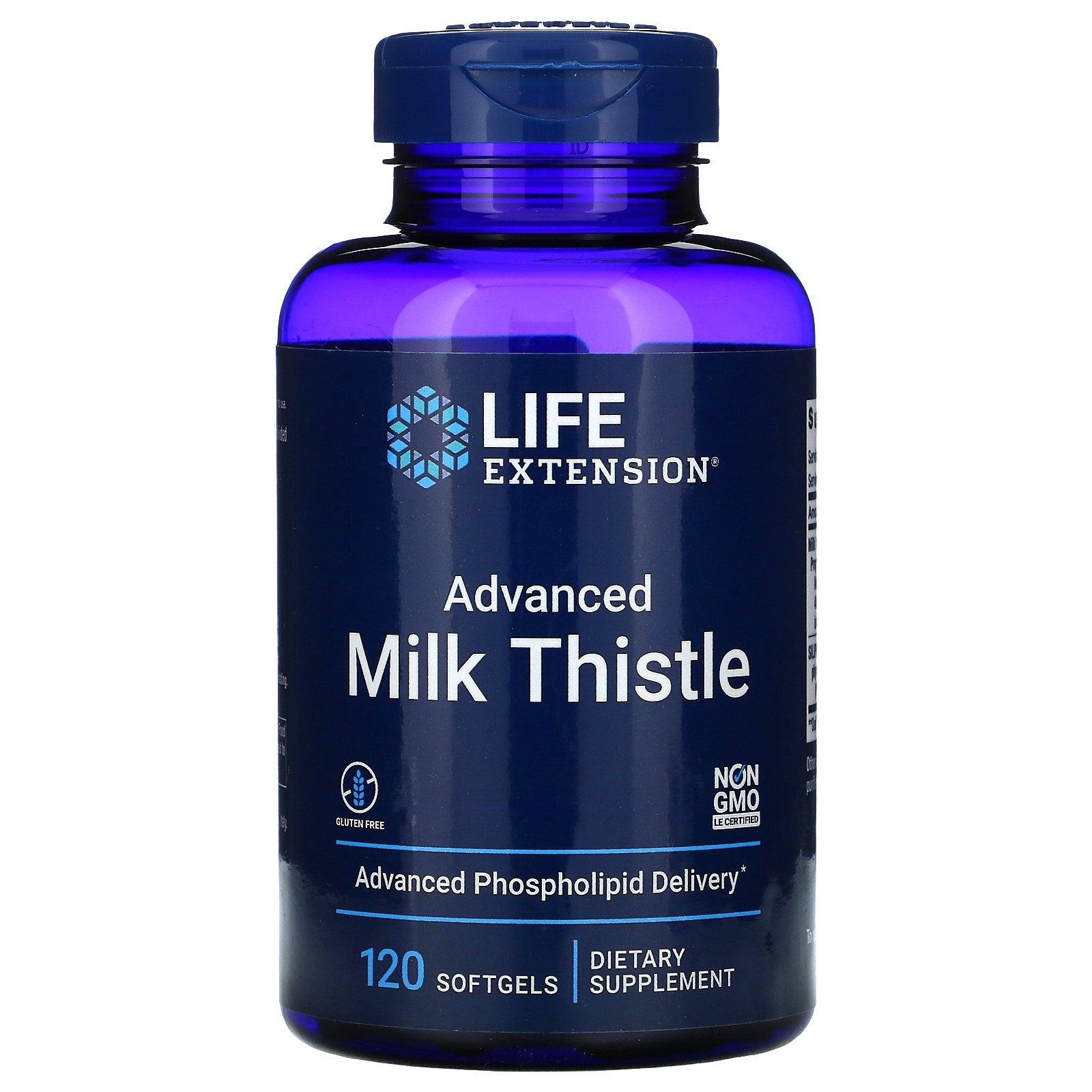 Life Extension, улучшенная формула расторопши, 120 капсул