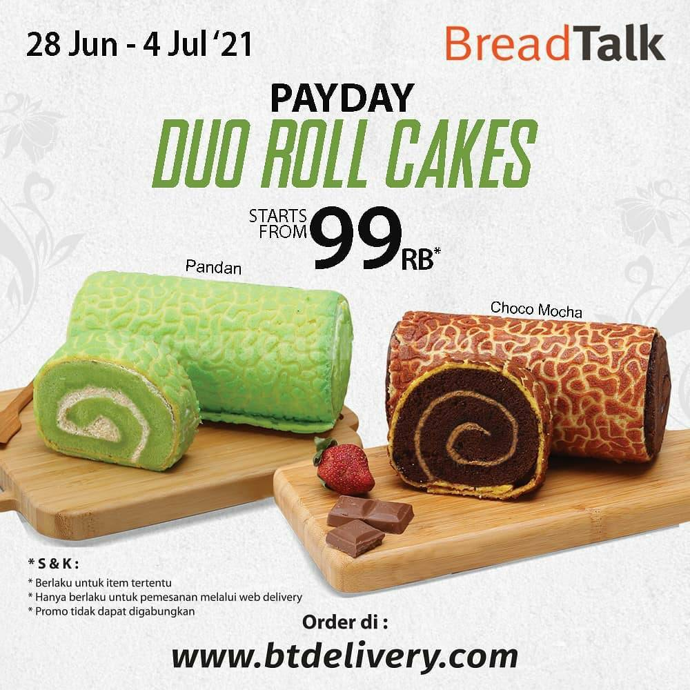 Breadtalk Promo Payday - Duo Roll Cakes mulai dari Rp. 99.000