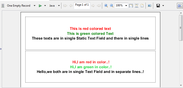 Tip : Half colored text in Static Text field (OR) Text field
