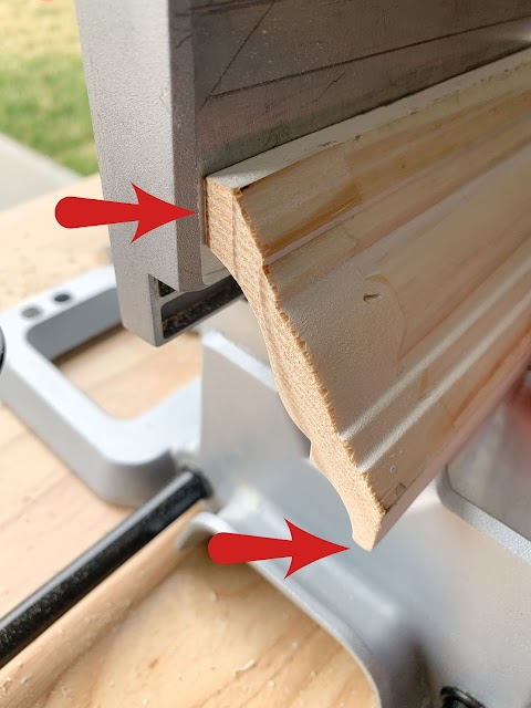 tips for cutting crown on saw