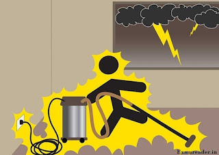 Do not touch electrical appliances