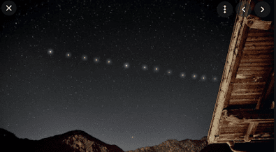 Satellites Appears on the sky