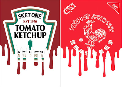 Sketchup & Sketracha Art Prints by Sket One x I Am Retro