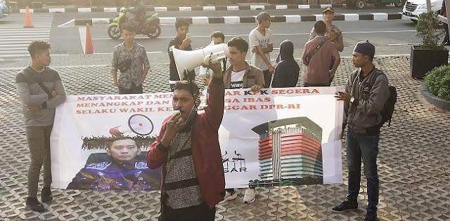 Kembali Geruduk KPK, Gempur Desak Ibas Segera Diperiksa Terkait Kasus Korupsi KTP-El