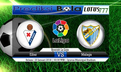 PREDIKSI SKOR Eibar vs Malaga 23 Januari 2018