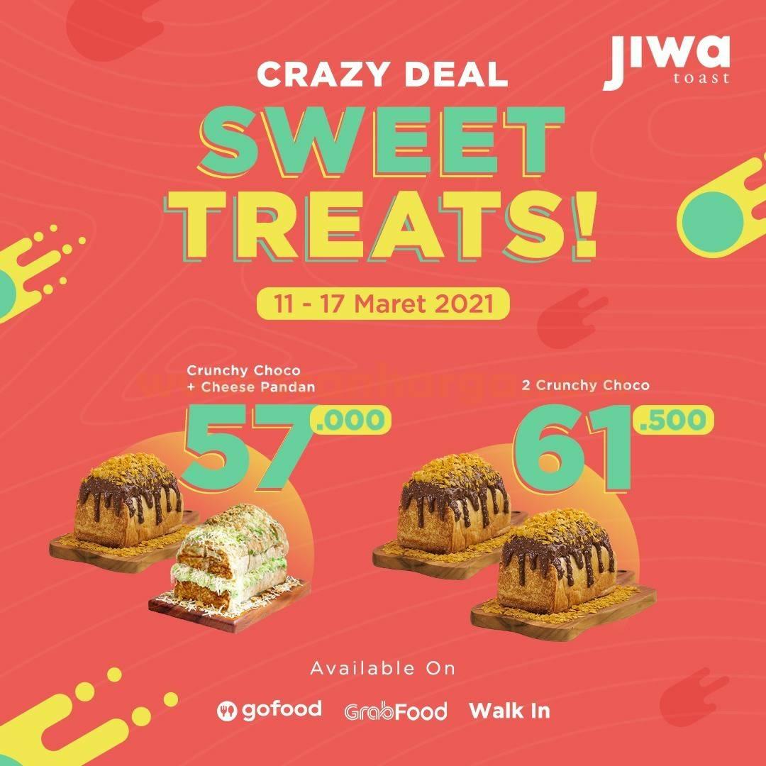 JIWA TOAST CRAZY DEAL WEEK Promo SWEET TREATS harga mulai 50Ribuan