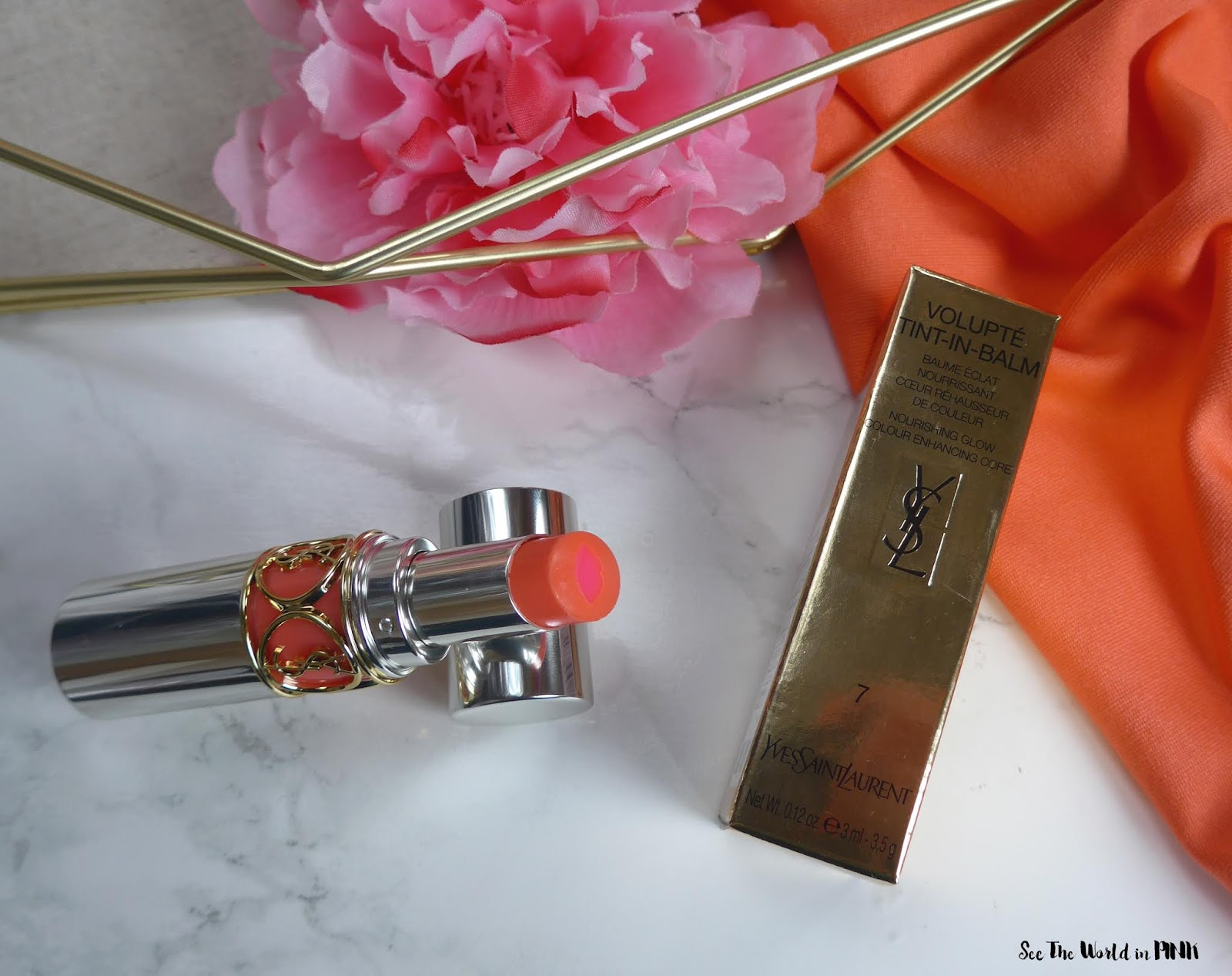 Yves Saint Laurent Volupté Tint-in-Balm in Flirt Me Coral