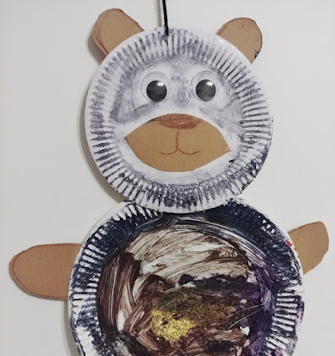 DIY art panda by toddler