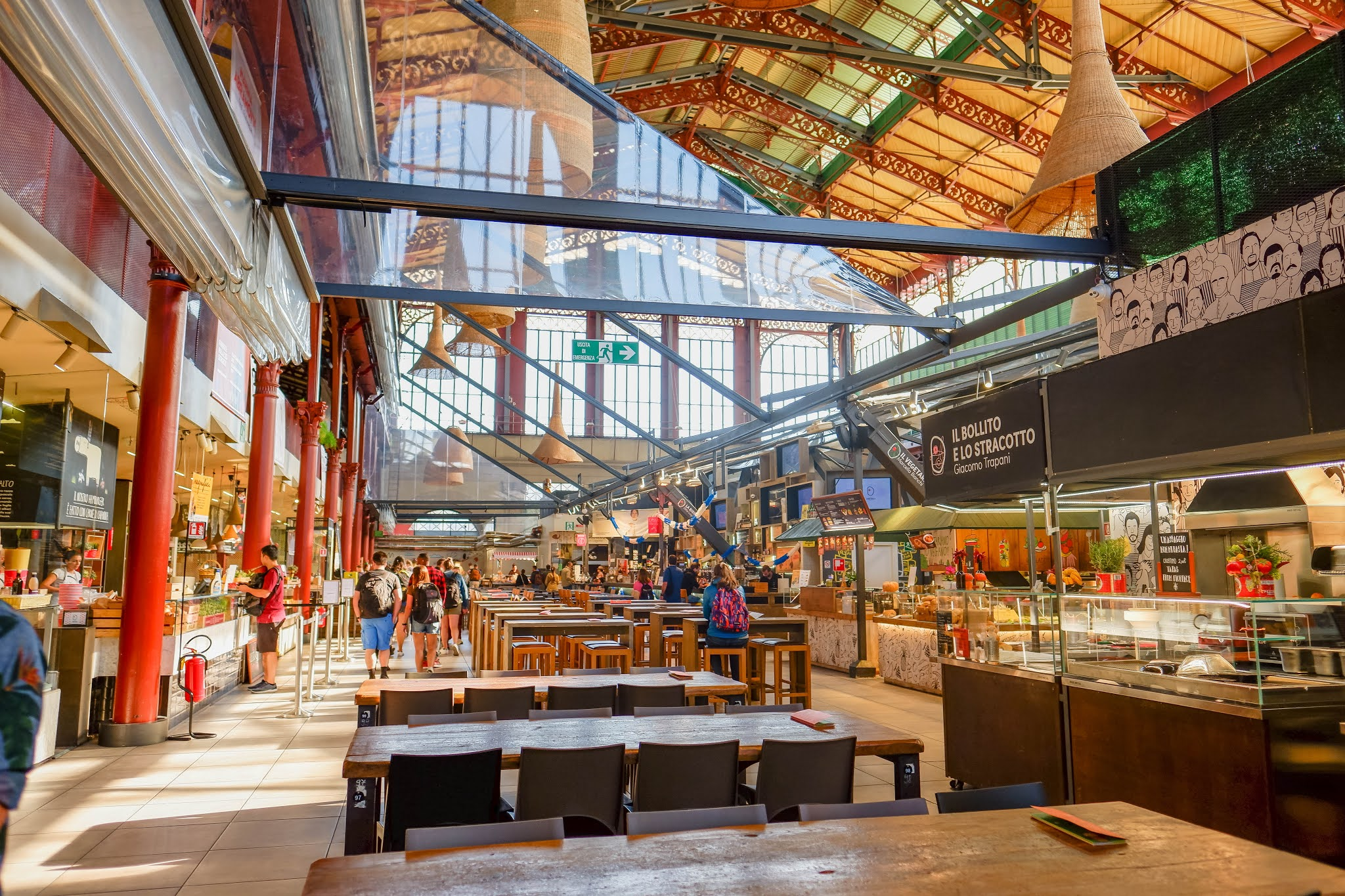 Mercato Centrale Florence, Florence Italy, Restaurant florence italy