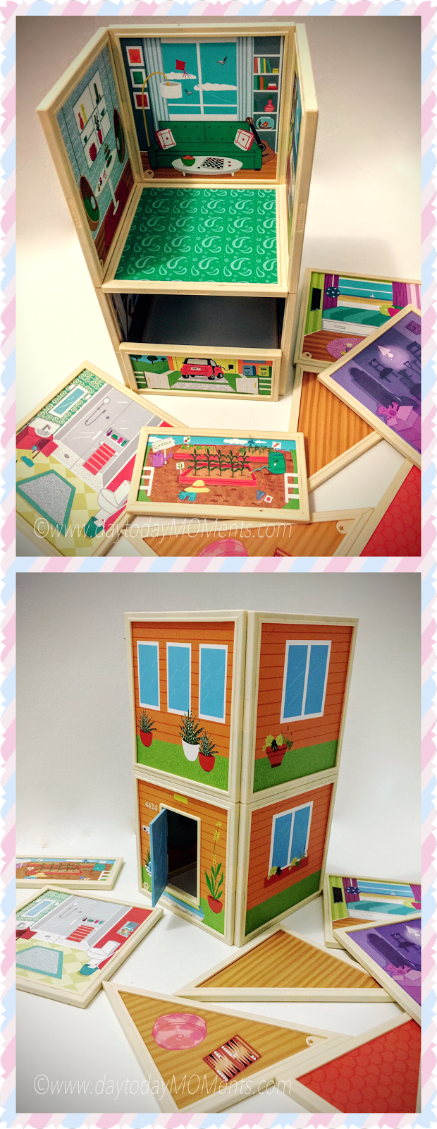 magnetic dolls and house set