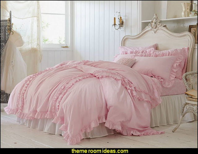 Ruffle Bedding Collection - Simply Shabby Chic   Victorian Decorating ideas - Vintage decorating - Victorian Boudoir - Romantic Victorian Bedroom Decor - lace and ruffles bedding - floral bedding - victorian bedroom photos - Vintage decor - vintage themed bedroom for a girl