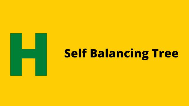 HackerRank Self Balancing Tree problem solution