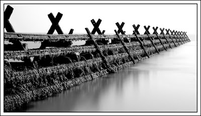 Derek Anson, Monochrome, Seascape, Walton on the Naze, Essex, Long exposure, Big Stopper, Lee filter,