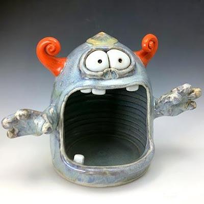 """Screamer"" monster in ceramic pottery"