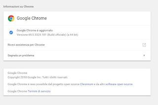 Versione Google Chrome