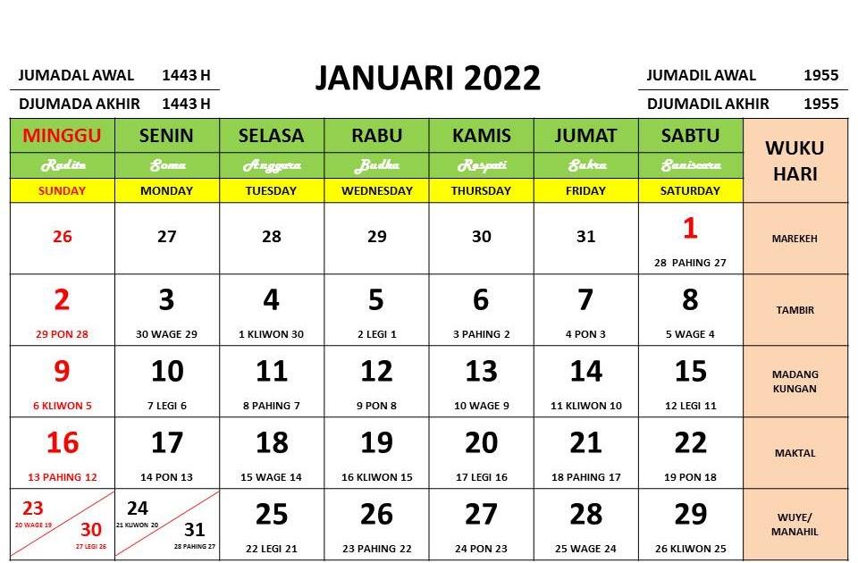 Download Kalender 2022 Lengkap Format Pdf Dan Cdr Siap Edit Enkosa Com Informasi Kalender Dan Hari Besar Bulan Januari Hingga Desember 2021