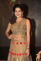 Jenny in brown transparent sleeveless anarkali dress at Shamanthakamani pre release function ~  Exclusive 017.JPG