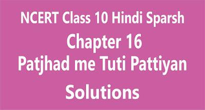 Chapter 16 Patjhad me Tuti Pattiyan