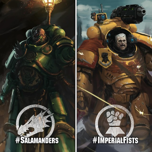 Addressing the Leaks: Official Reveals for the Salamanders and Imperial Fists