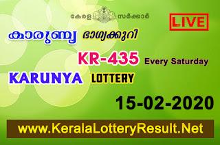 Kerala Lottery Result 15-02-2020 Karunya KR-435 Lottery Result