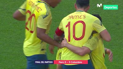 Colombia ¡GOLEO! a Peru en Lima y ya prepara maletas para Brasil