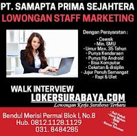 Walk In Interview di PT. Samapta Prima Sejahtera Surabaya September 2020