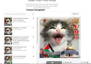 Membuat foto profil facebook dengan background bendera negara