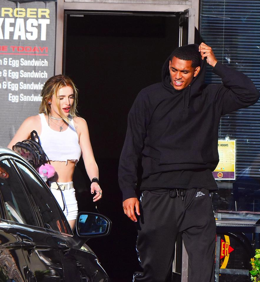 Bella Thorne flaunts underboob on Six Flags date with Jordan Clarkson