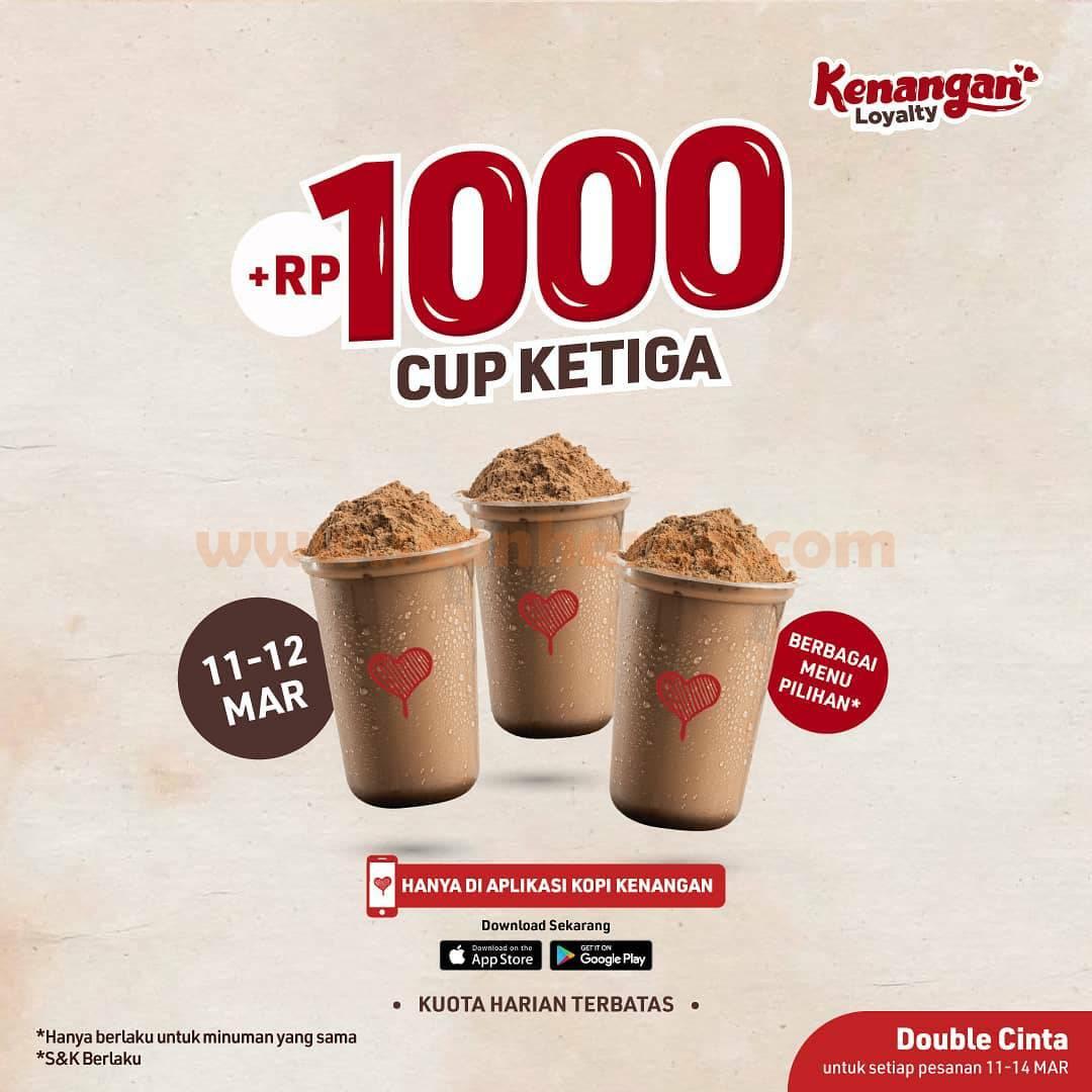 KOPI KENANGAN Promo Tambah +Rp.1.000 Dapat 3 minuman!