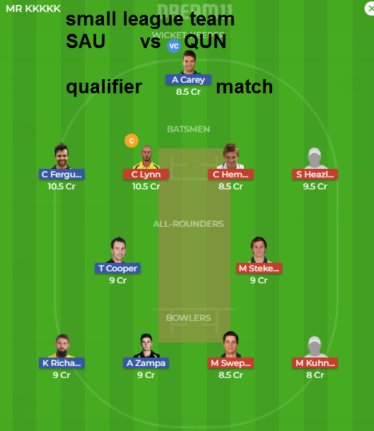 SAU vs QUNdream11