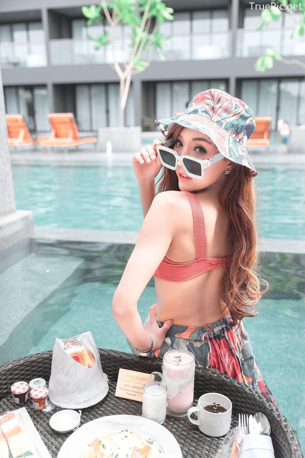 Thailand model - I'nam Arissara Chaidech - Pink Bikini on the beach - TruePic.net - Picture 1