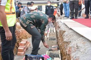 Bupati Batanghari Fadhil Arief Turut Hadir Di Peletakan Batu Pertama Mako Polres Batanghari
