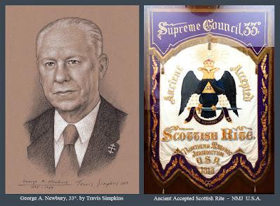 George Adelbert Newbury, 33°. Scottish Rite Museum & Library. Lexington, MA. by Travis Simpkins