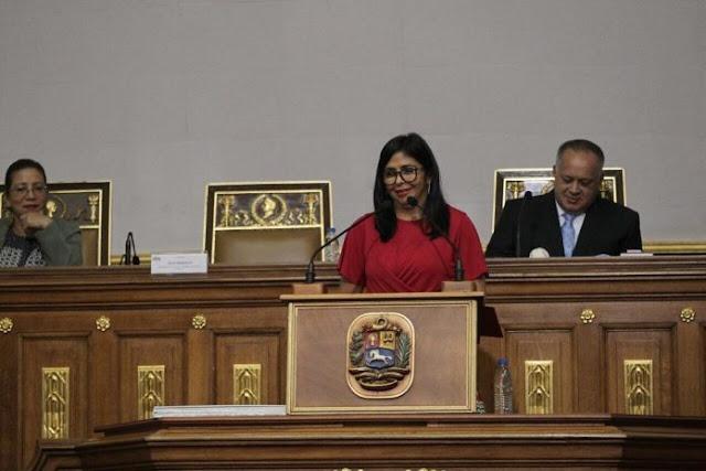 Delcy Rodríguez presentó ante la ANC el presupuesto nacional 2019