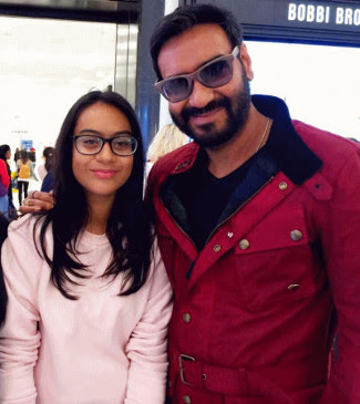 Devgan with his daughter Nysa Devgan