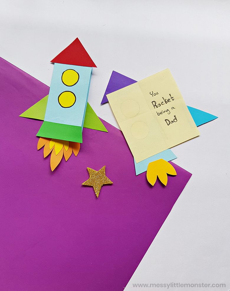 You Rocket Being a Dad Homemade Rocket Father's Day Card